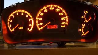 Mitsubishi Lancer Evolution пересвет приборной панели