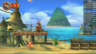 Donkey Kong Country Returns Any % Speedrun in 1:34:26 (old PB)