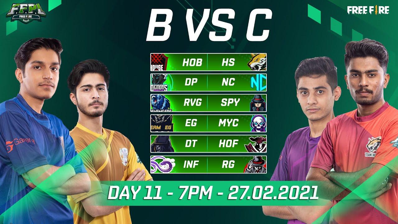 🔴 LIVE -  FFPL | DAY 11 - Group B vs C | Saturday 27 Feb