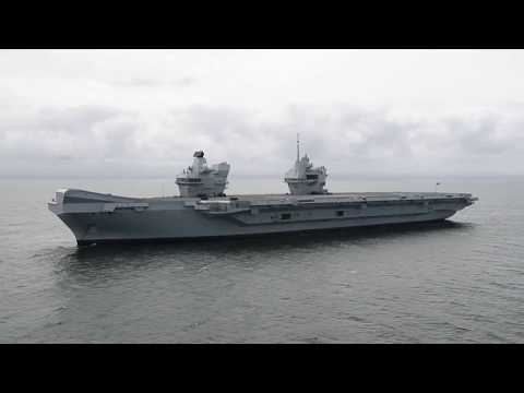 HMS Queen Elizabeth at sea for the first time