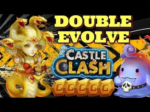 Castle Clash Double Evolving Medusa! Gameplay!