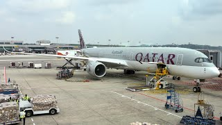 Qatar Airways A350-1000 Economy Class | Singapore (SIN) to Doha (DOH) | Trip Report
