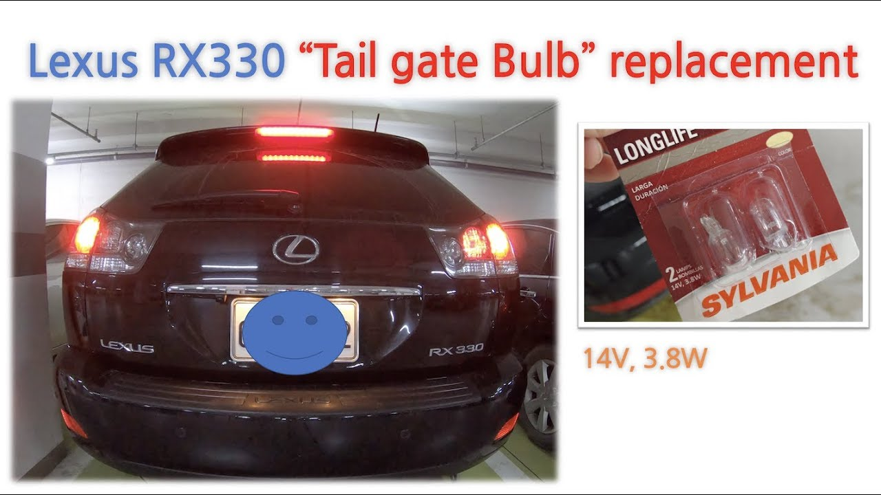 Lexus Rx330 Tail Bulb Replacement Youtube