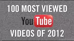 100 Most Viewed YouTube Videos of 2012!