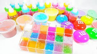 Learn Colors with Slime Mix Combine Glitter Fun Colours For Kids