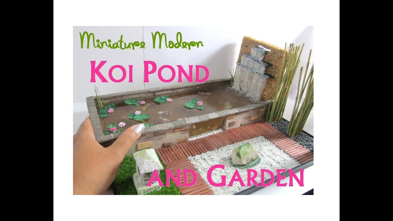 Miniature Modern Japanese Koi Pond And Zen Garden Collaboration