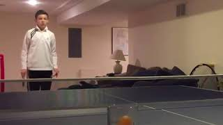Guy Shoots Ping Pong Ball Straight Into Glass - 1019781