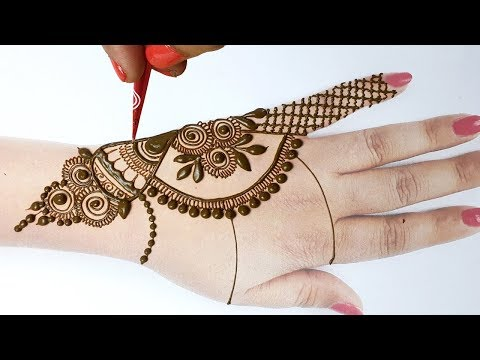 Easy Mehndi Designs Tricks for Hands - Stylish New Arabic Bridal Mehndi Design- शेडेड अरेबिक मेहँदी