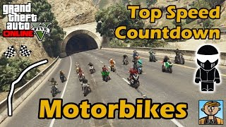 Fastest Motorbikes (2015) - Top Speeds Of Fully Upgraded Bikes In GTA Online