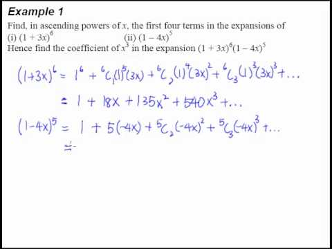 3 Binomial Theorem Example 1 A Basic Binomial Expansion Question