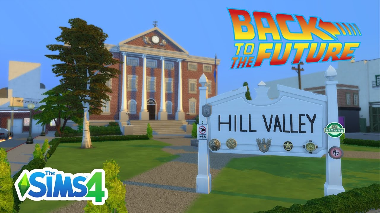 Back to the Future | Hill Valley 1955 | Speed Build | The Sims 4 | No CC -  YouTube