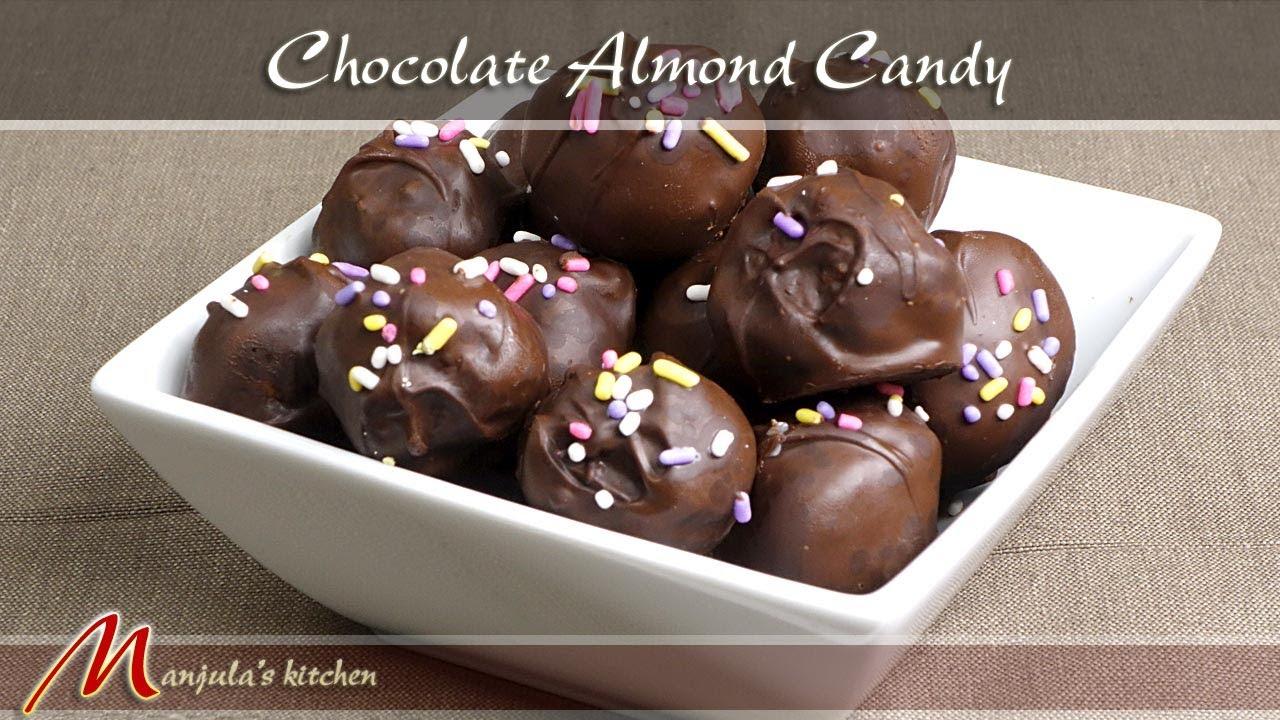 Chocolate Almond Candy Recipe By Manjula Youtube