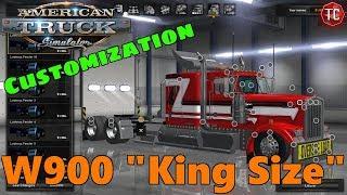 "American Truck Simulator: Mods | 1990 Kenworth W900 ""King Size"" FULL CUSTOMIZATION"