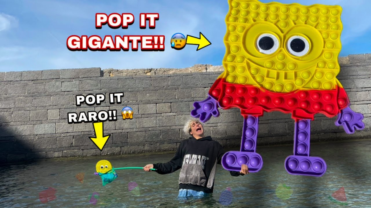 TROVIAMO IL POP-IT GIGANTE DI SPONGEBOB SOTT'ACQUA A MARE!! *rarissimo*