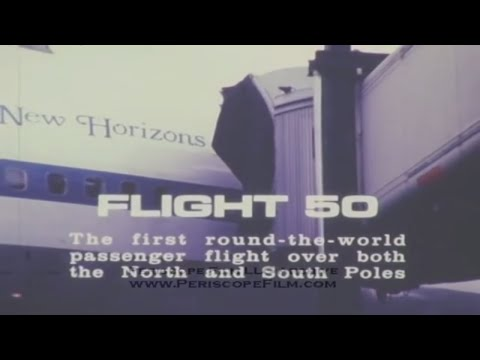 PAN AM AIRLINES FLIGHT 50 OVER NORTH AND SOUTH POLES 1977   3454