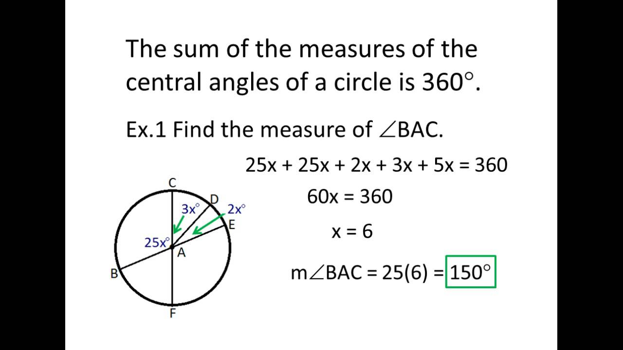 Geometry 10-2 Angles and Arcs PowerPoint - YouTube