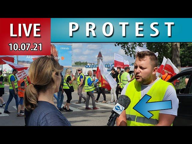 LIVE ➤ Blokada Władysławowa Protest Armatorów