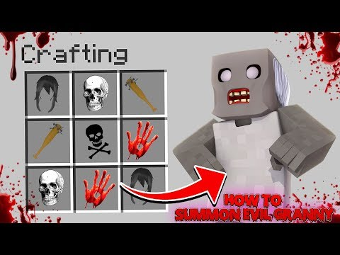 Minecraft HOW TO SUMMON EVIL GRANNY MOBLIE HORROR GAME IN MINECRAFT