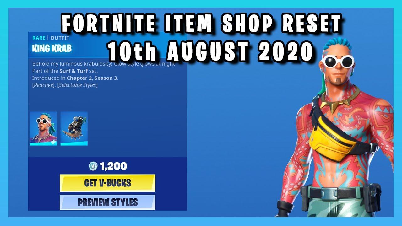 *NEW* KING KRAB SKIN SET!!! (Item Shop Reset 10th August 2020)
