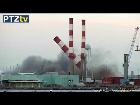 FPL Power Station Demolition Port Everglades 07-16-2013