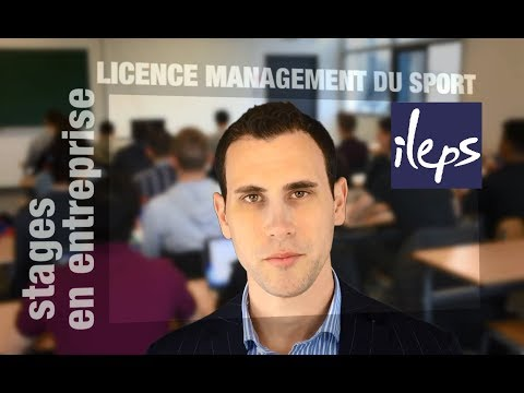Licence STAPS Management du Sport ILEPS : stages en entrepri