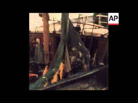 """SYND 9-9-72 BRITISH TRAWLERS AT SEA  AS """"COD WAR"""" CONTINUES"""