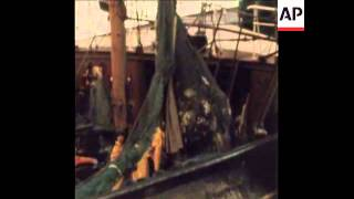 SYND 9-9-72 BRITISH TRAWLERS AT SEA  AS