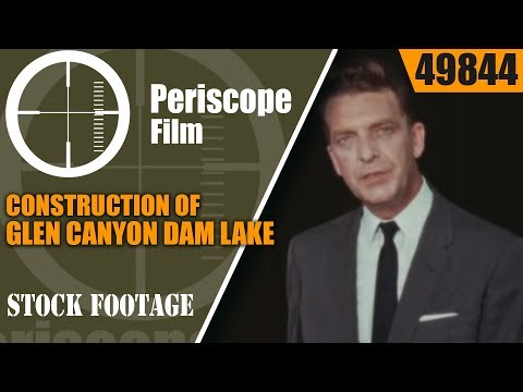 CONSTRUCTION OF GLEN CANYON DAM  LAKE POWELL  PAGE ARIZONA 49844
