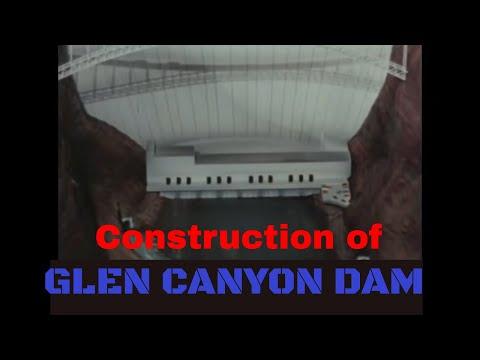 CONSTRUCTION OF GLEN CANYON DAM  LAKE POWELL  PAGE ARIZONA 49844
