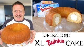 Operation: Giant Twinkie Bundt Cake