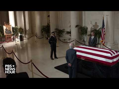 WATCH: Justice Stevens remembered while lying in repose at the Supreme Court