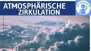 Atmosphärische Zirkulation – Gradient-& Corioliskraft – Hochdruckgürtel, Tiefdruckrinne, Ausgleich