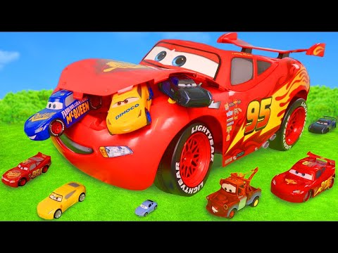 Cars Toys Surprise: Lightning McQueen Toy Vehicles & Fire Tr