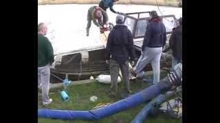 Full video of the rising of a sunken Norfolk Broads boat
