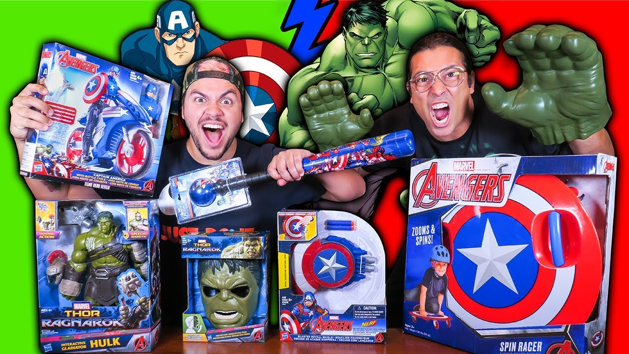 Luccas Neto Testando Brinquedos Do Hulk E Do Capitao America