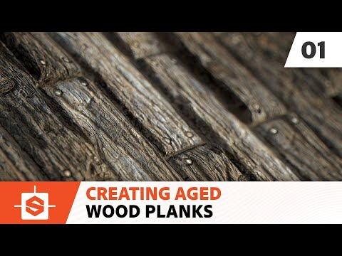 Aged Wood Planks: 01 -  Creating the wood pattern
