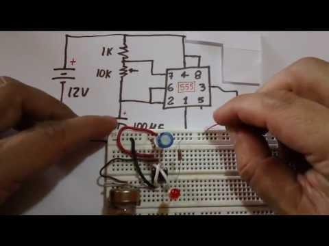 Circuito Oscilador 555 : Circuito temporizador