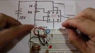 Circuito LED intermitente con 555