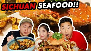 THE BEST SICHUAN SEAFOOD IN LA (Chili Crabs, Crawfish, Shrimp, Octopus!) Szechuan