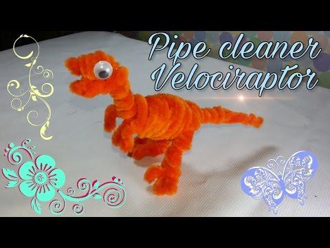 Pipe cleaner Dinosaur Crafts - Velociraptor