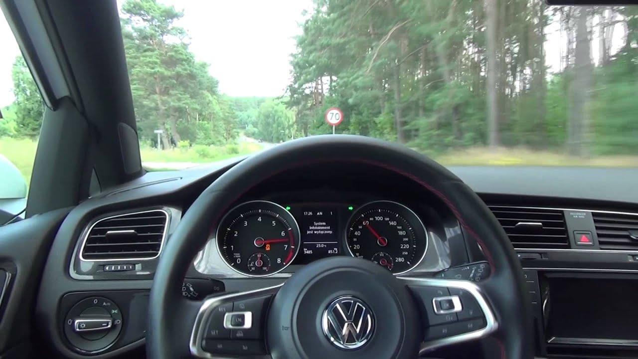 2014 new volkswagen golf vii gti 2 0 tsi 220 km dsg acceleration spint przyspieszenie 0 100 km. Black Bedroom Furniture Sets. Home Design Ideas