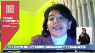 INTERVENCIÓN SENADORA PROVOSTE DURANTE LA VOTACIÓN DEL PROYECTO DE LEY SOBRE MIGRACIÓN Y EXTRANJERÍA