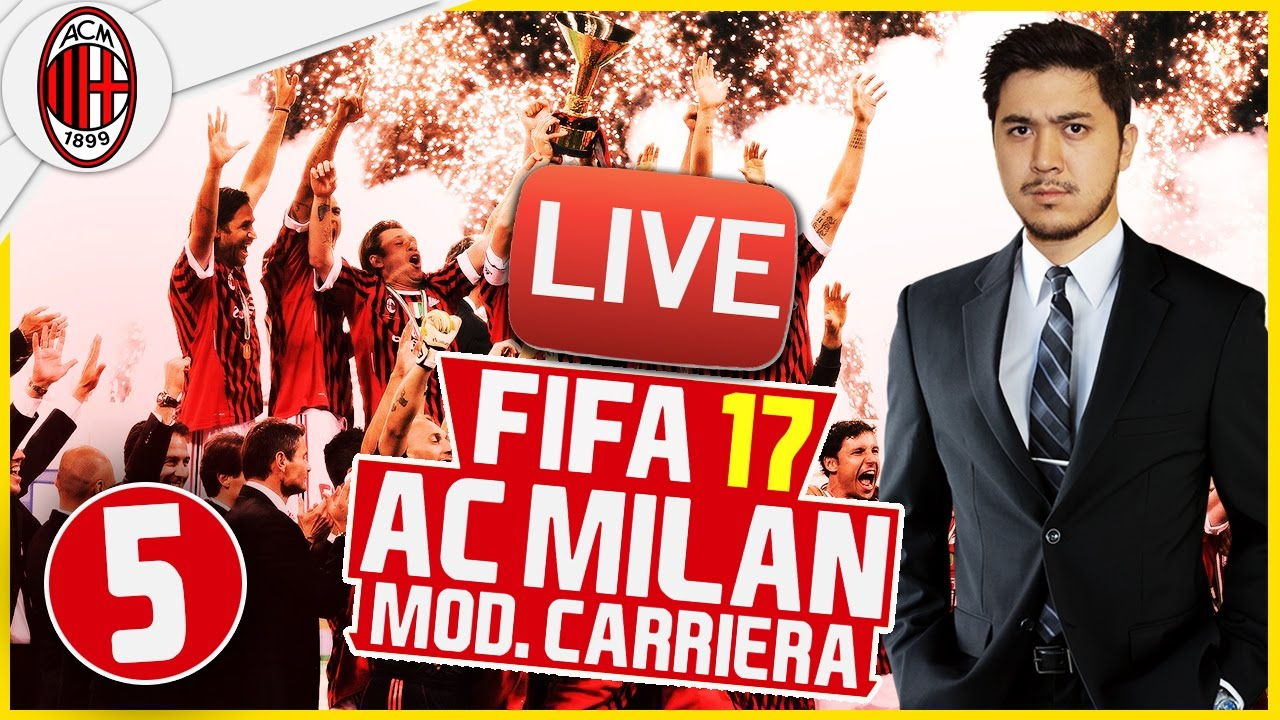 Fifa 17 modalit carriera ac milan 5 live streaming for Fifa 17 milan