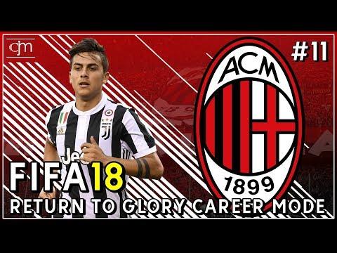 FIFA 18 AC Milan Career Mode: Pertandingan Penting Serie A Lawan Juventus #11