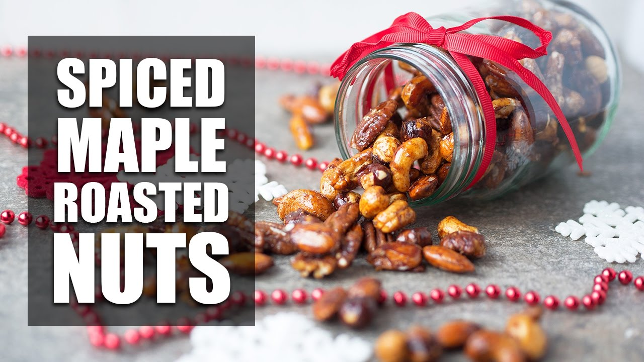 spiced maple roasted nuts healthy christmas edible gift ideas