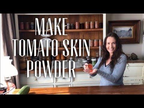 EASY TOMATO POWDER - HOW TO MAKE TOMATO SKIN POWDER - Easy way to peel a tomato