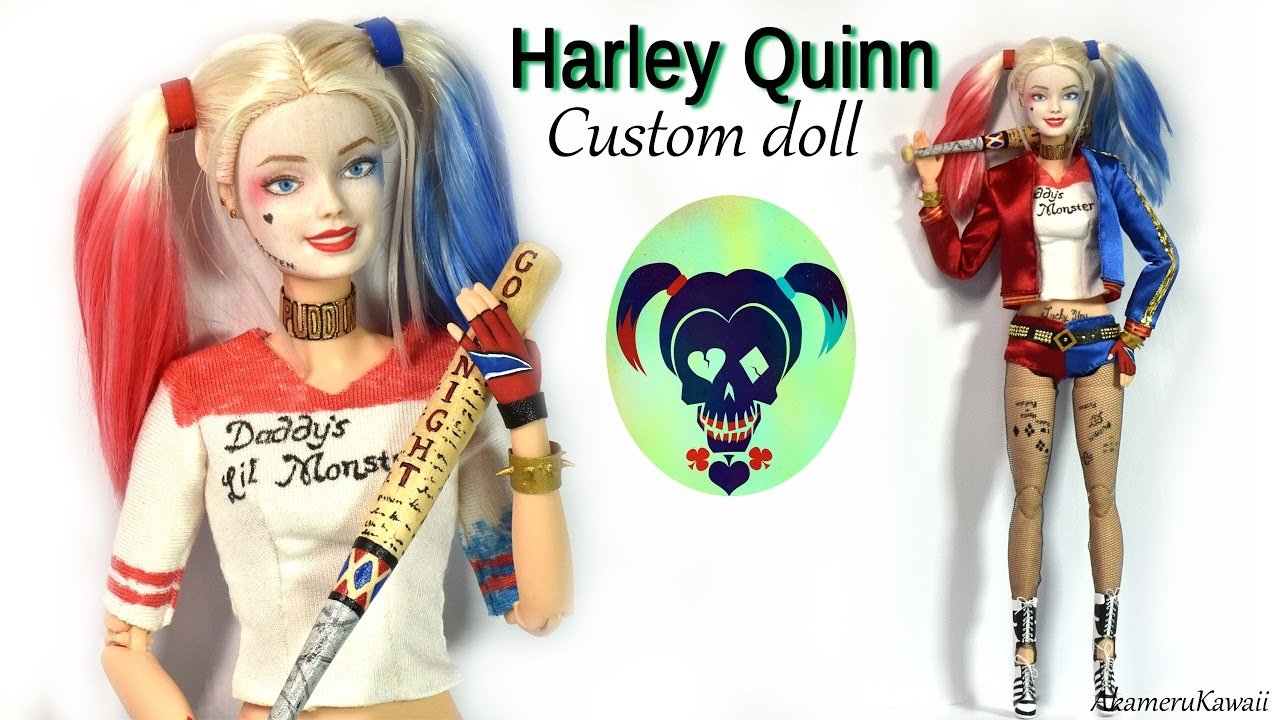Harley Quinn inspired Doll / Barbie Repaint (Suicide Squad ...