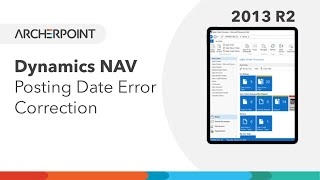 Dynamics NAV Posting Date Error Correction