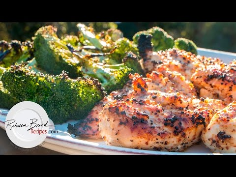 Grilled Chicken Breast Dinner Recipe With Grilled Broccoli  Juicy Recipe