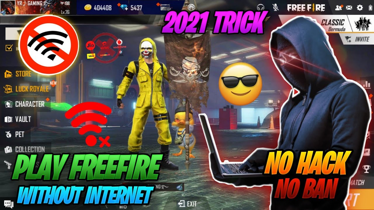 How to Play Free Fire Without Network | YR Gaming